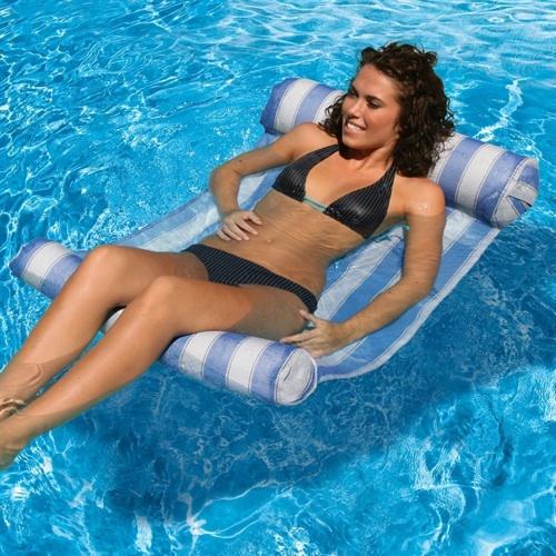 AquaFun Water Hammock Lounger - Swimming Pool Bed / Lounger - 132x66cm