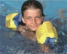 AquaFun Deluxe Arm Band Floaties - Swimming Pool Float / Toy