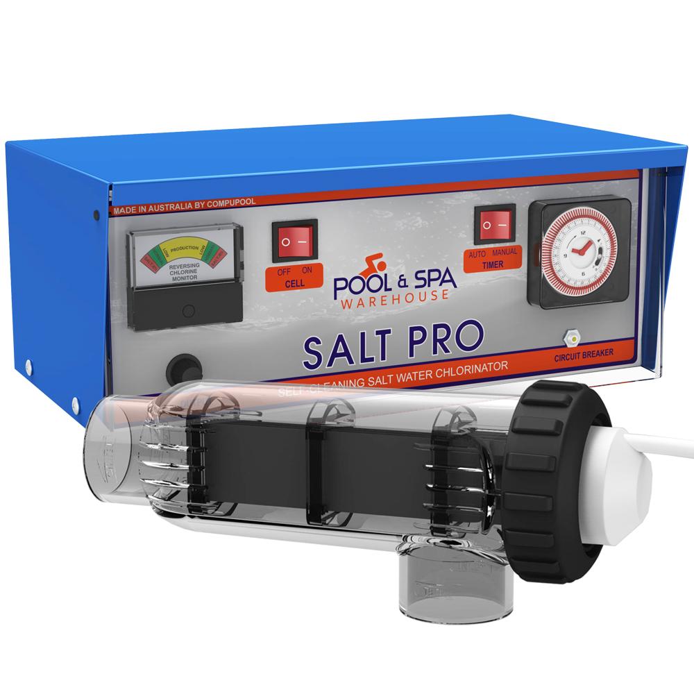 Salt Pro 25T Salt Water Pool Chlorinator w/Timer made by Compu Pool - 5Y Warranty