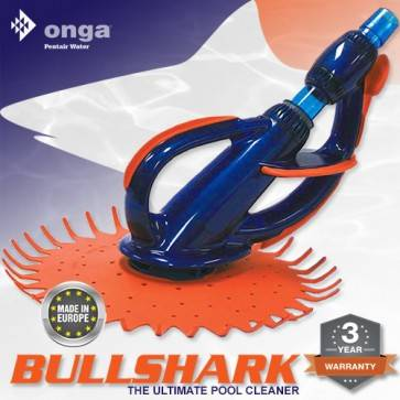 BullShark Pool Cleaner by Onga Europe - Above & In Ground - Wall Climber