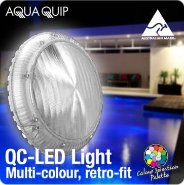 Aquaquip QC LED Multi-Colour Retro-Fit underwater Pool Light