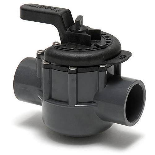Onga Pentair 2 Way Valve 40mm Pvc Pool Diverter Valve Grey Black