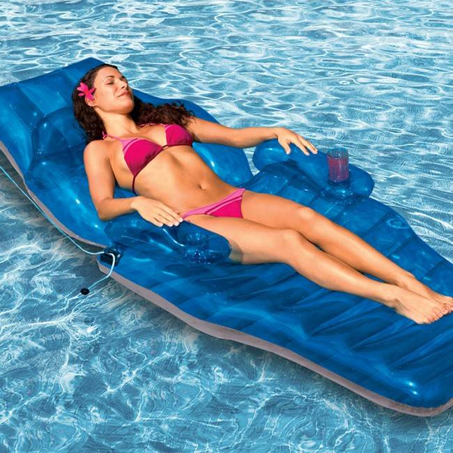 Poolmaster Adjustable Chaise Lounger Swimming Pool