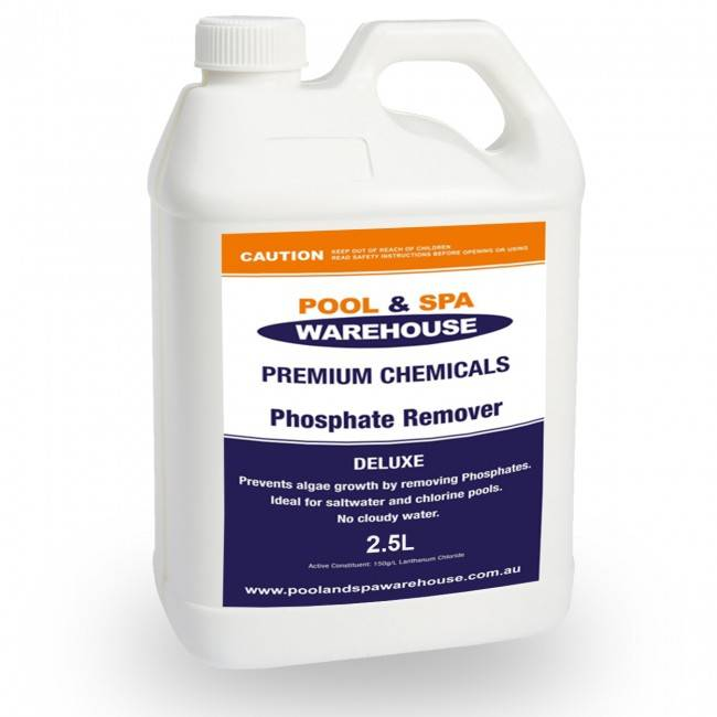 Premium deluxe phosphate remover 2 5l pool chemical - How to lower phosphates in swimming pool ...