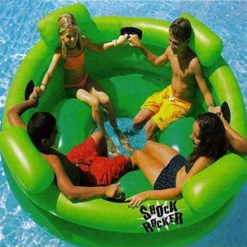 Swimsportz Shock Rocker Inflatable Swimming Pool Tube Lounger Toy Rocker 190cm