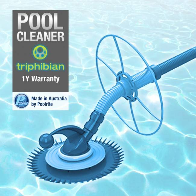 poolrite triphibian pool cleaner head only above in ground wall climber