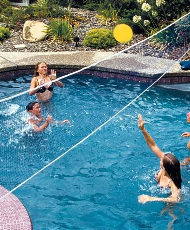 Aquafun Pool Volleyball Game Set Swimming Pool Game Toy