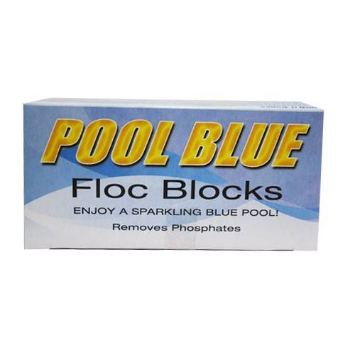 Pool Blue Floc Blocks 2 Pack Pool Flocculant Clarifying Pool Chemical