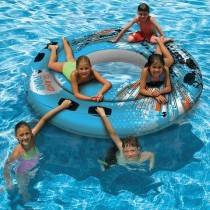Aquafun ISLAND Fun Tube - Large Swimming Pool Float - 195 cm