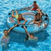 Aquafun ISLAND Fun Tube - Large Swimming Pool Float - 195 cm
