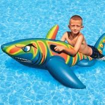 AquaFun Jumbo Shark Ride-On Swimming Pool Toy / Float - 180 cm