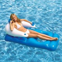 AquaFun Floating Pool Lounger - Inflatable Air Bed - 165x89cm