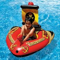 Aquafun Pirate Ship and Water Shooter - Swimming Pool Toy / Float - 127cm