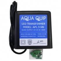 Aquaquip Plug-In 12V x 30VA (4 Outputs) Transformer for LED Pool Lights