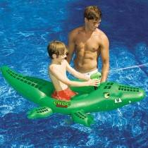 SwimSportz Croc Attack Ride On / Squirter - Swimming Pool Toy / Float