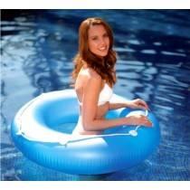 Aquafun Beach Swim Ring / Tube with rope - Swimming Pool Float - 120cm