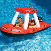 SwimSportz Fire Boat Squirter - Swimming Pool Inflatable / Float - 152cm