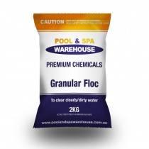 Premium Granular Floc / Clarifying Chemical 2kg - Treats Cloudy Pools - Pool Chemical