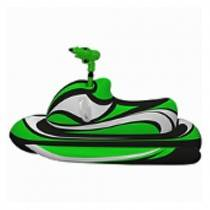 AquaFun Jet Ski with Squirt Gun - Inflatable Pool Toy