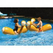 Swimsportz Floating Log Joust Set for 2 Inflatable Swimming Pool Toy / Float