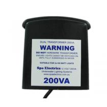 Spa Electrics 12v 200W Transformer Twin