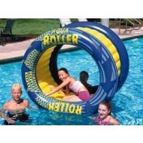 AquaFun Aqua Roller - Inflatable pool air Lounger / Toy / Rocker - 156x 91cm