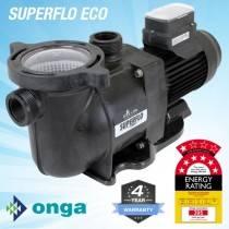 Onga SuperFlo VS ECO 800 Energy Efficient Pool Pump. 4Y Warranty, 7 Star Rated