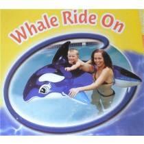 Aquafun Whale Ride On Swimming Pool Toy / Float