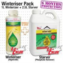 Pool Winteriser Pack: 1L Winter Algaecide + 2.5L Starver - 6 months protection - Pool Chemical