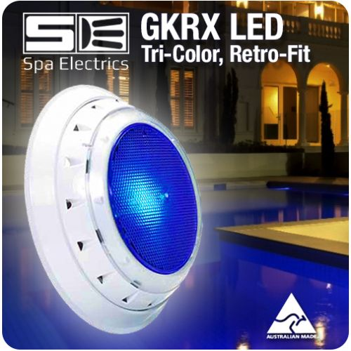 Spa Electrics Gkrx Gk7 Tri Colour Led Pool Light Retro Fit Variable Voltage