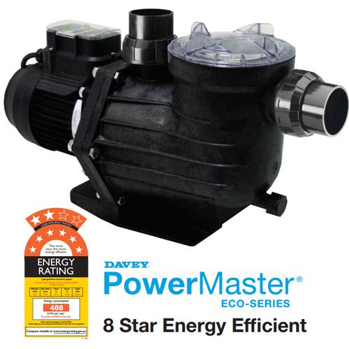 Davey powermaster eco energy efficient pool pump 8 star - Most energy efficient swimming pool pump ...