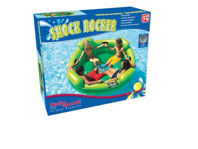 Swimsportz Shock Rocker Inflatable Swimming Pool Tube Lounger Toy Rocker Ebay