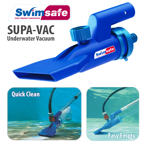 Supa Vac Pool Spa Pond Fountain Underwater Vacuum Cleaning Kit W Scoop Ebay