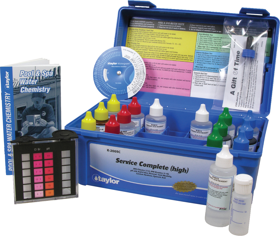 Taylor Complete Pool Amp Spa Test Kit High Range K 2005c