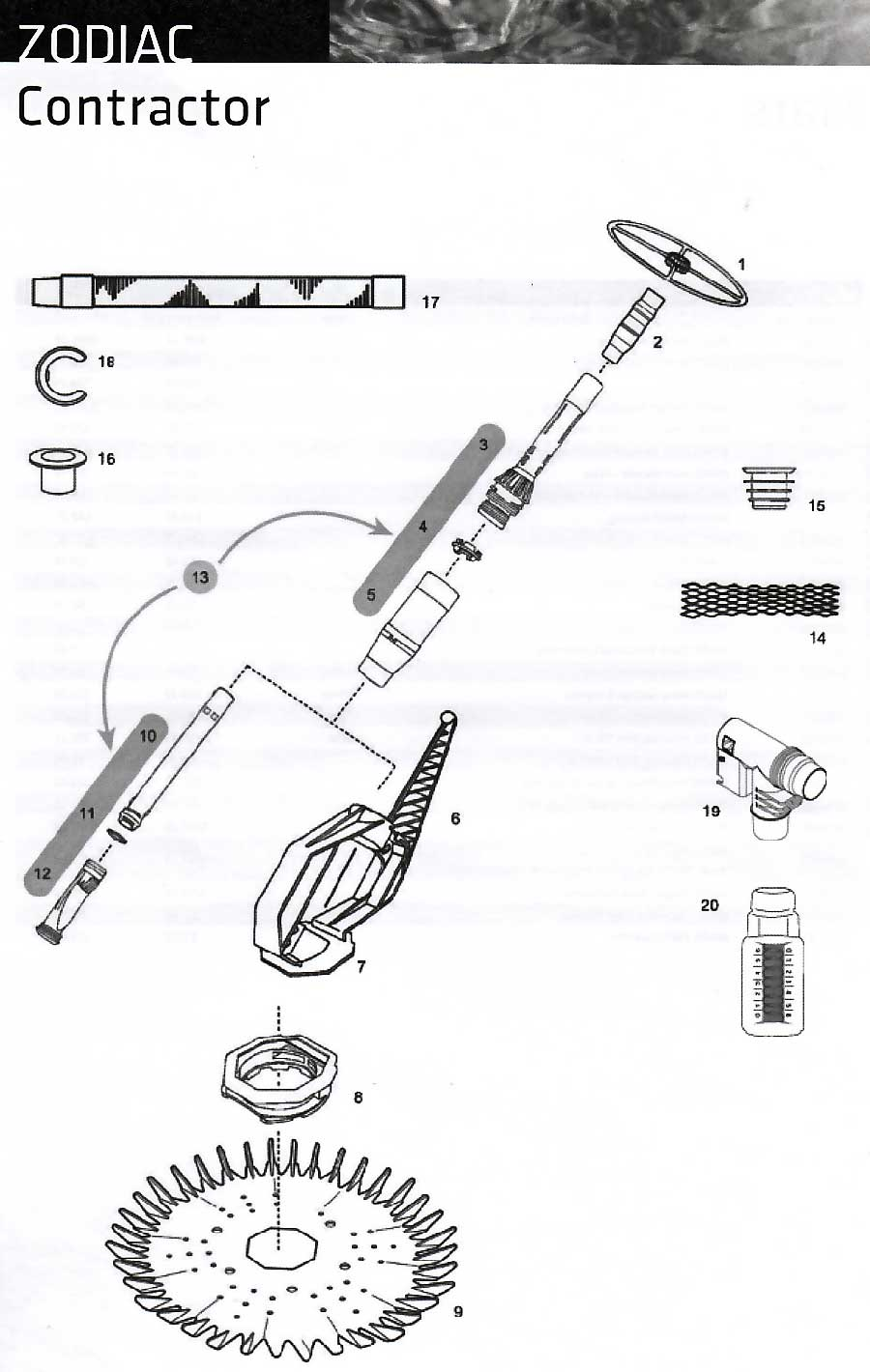 Zodiac Aquasphere Amp Contractor Spare Parts
