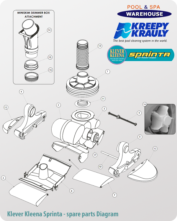 Kreepy Krauly Klever Kleena Sprinta Diagram