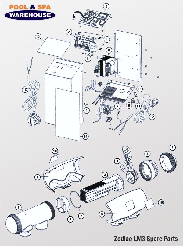 Zodiac LM3 Spare Parts Diagram